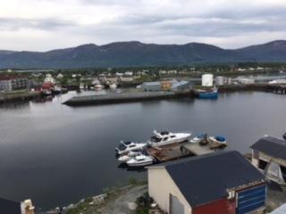 Widok na miasto Bronnoysund.