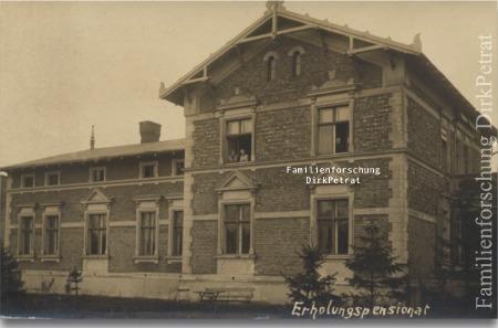 Pensjonat przy dzisiejszej ul Batalionów Chłopskich 9, Erholungspensionat Karbe