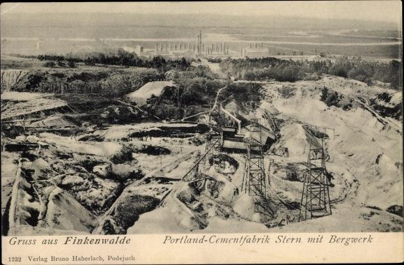 Widok na kopalnie fabryki cementu Stern, Zdroje