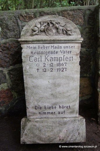 Płyta nagrobkowa Carla Kampfen