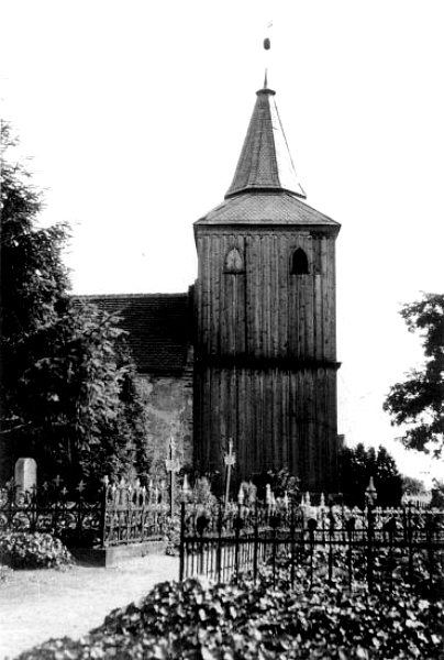 Kościół w Klutz ca. 1920 rok