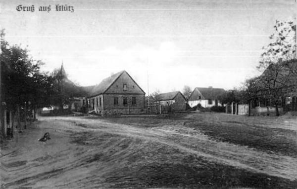 Ulica Bielańska w Kluczu około 1900 roku